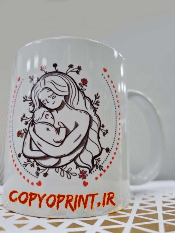 چاپ روی لیوان سرامیکی روز مادر